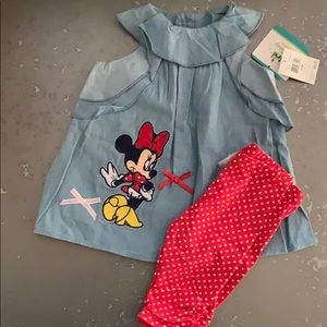 NWT Baby girl Minnie Mouse Outfit